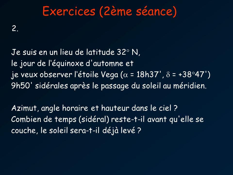 Exercices (2ème séance) 2.