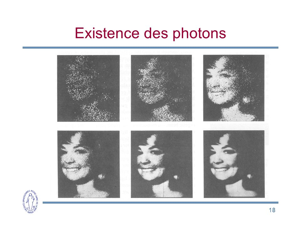 18 Existence des photons