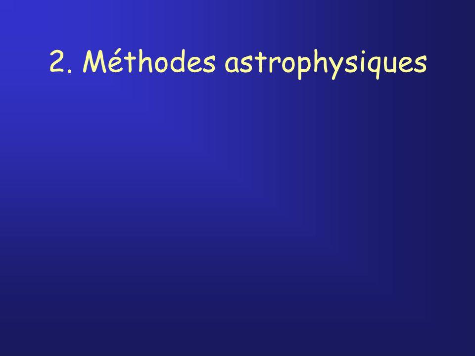 2. Méthodes astrophysiques