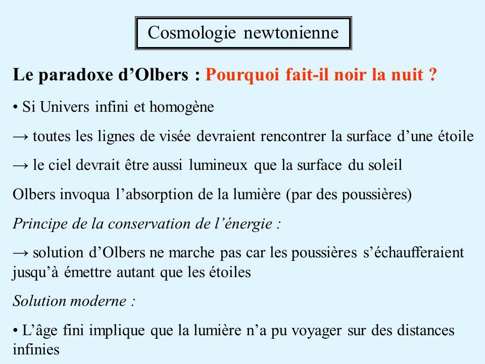 Le paradoxe dOlbers : Pourquoi fait-il noir la nuit .