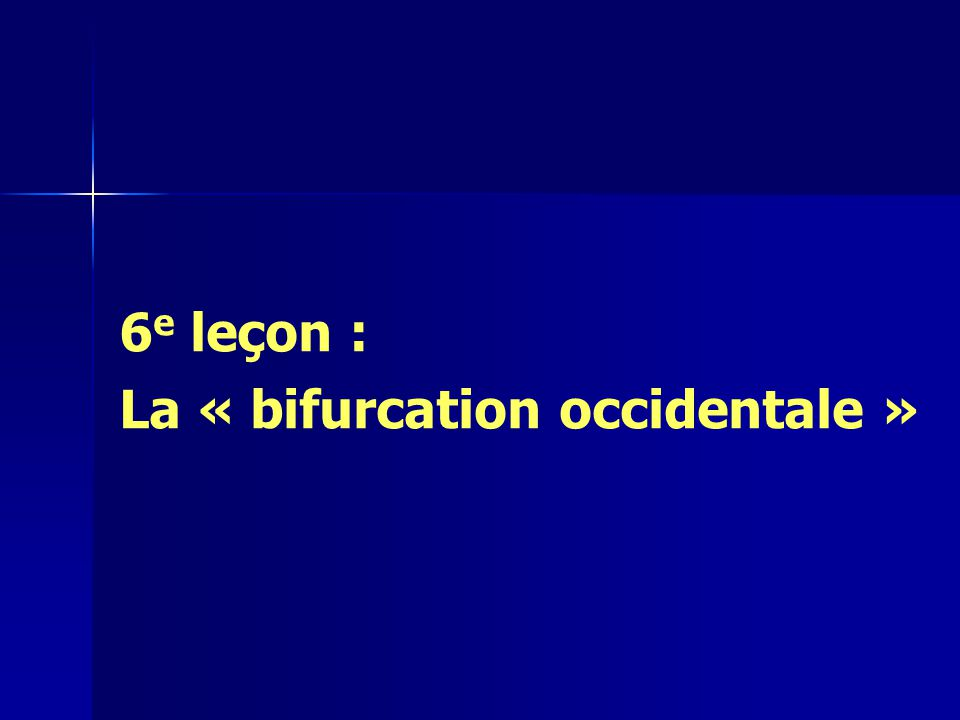 haut Moyen-âge (5 e / 11 e ) haut Moyen-âge (5 e / 11 e ) –Mérovingiens –Carolingiens bas Moyen-âge (11 e / 14 e ) bas Moyen-âge (11 e / 14 e ) = « bifurcation occidentale » = « bifurcation occidentale » = via moderna = via moderna « Moyen-âge »
