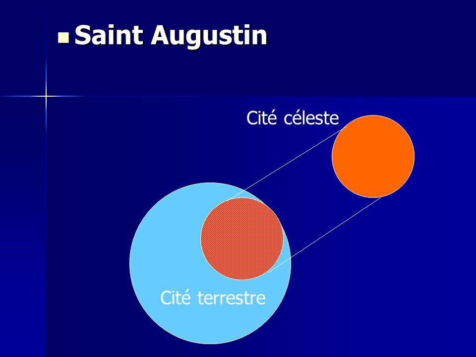 Cité céleste Cité terrestre Saint Augustin Saint Augustin