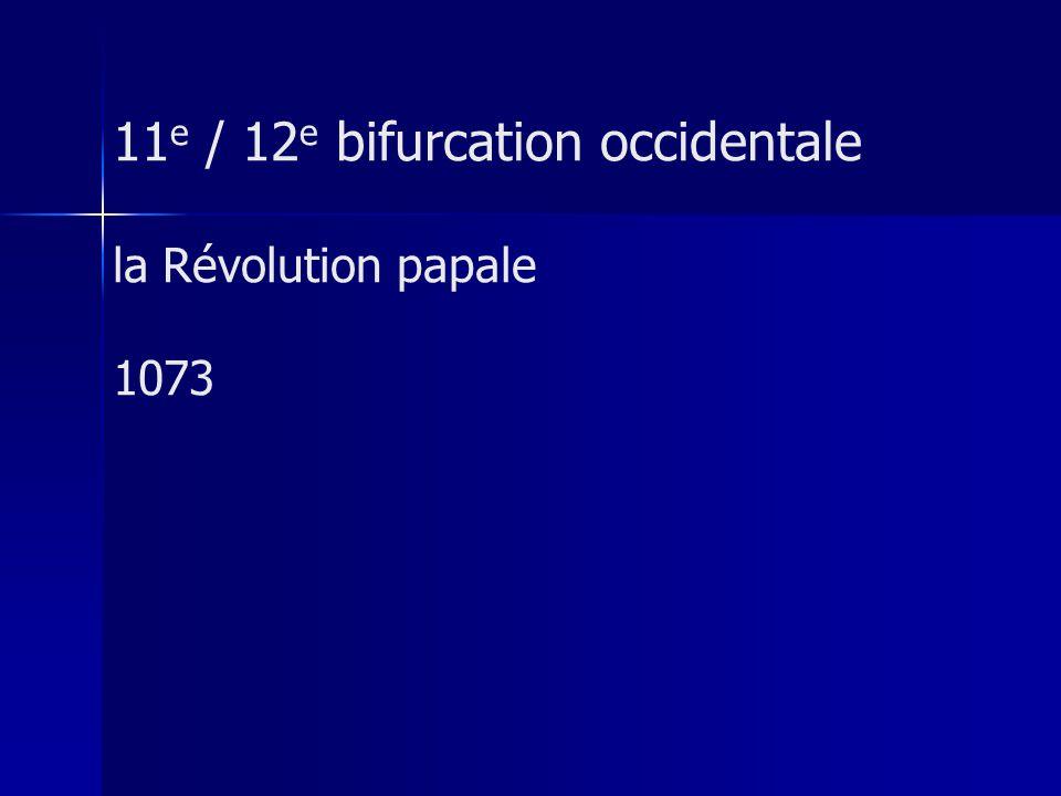 11 e / 12 e bifurcation occidentale la Révolution papale 1073