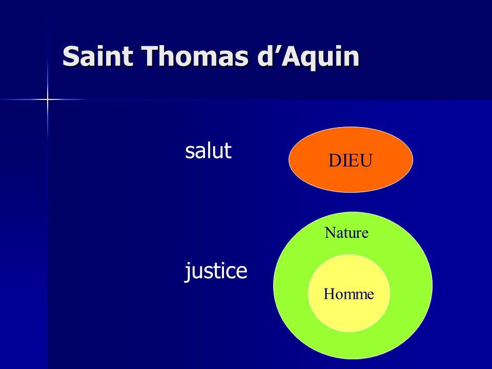 Saint Thomas dAquin DIEU Homme Nature salut justice