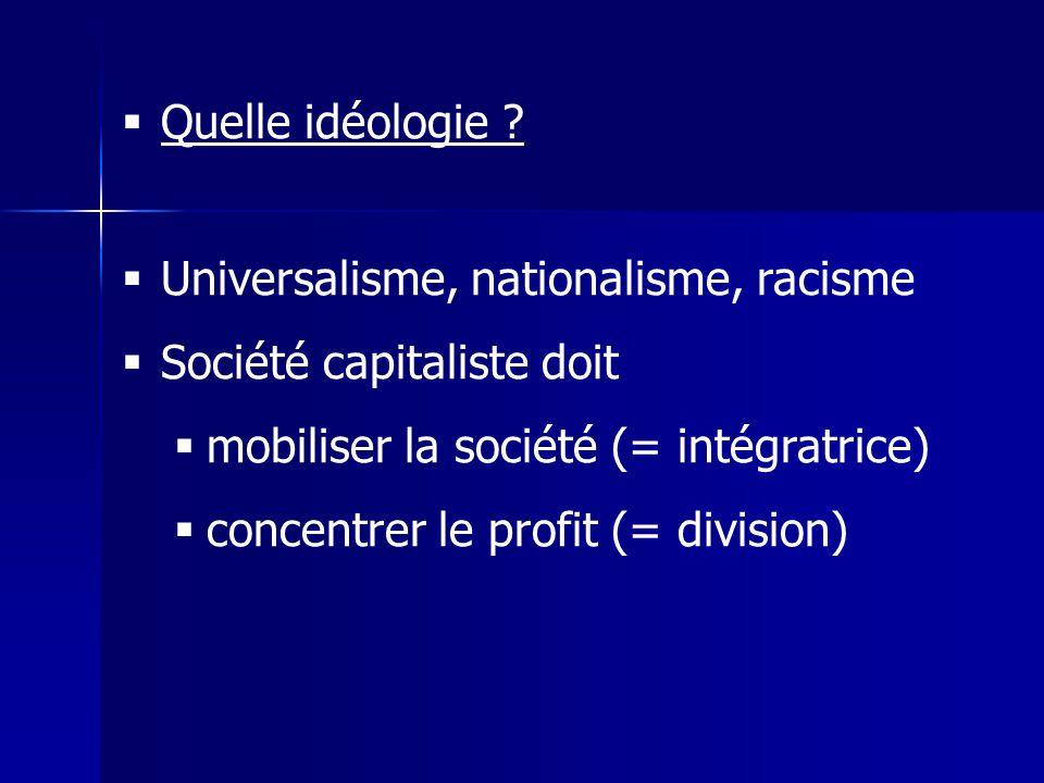 Quelle idéologie .