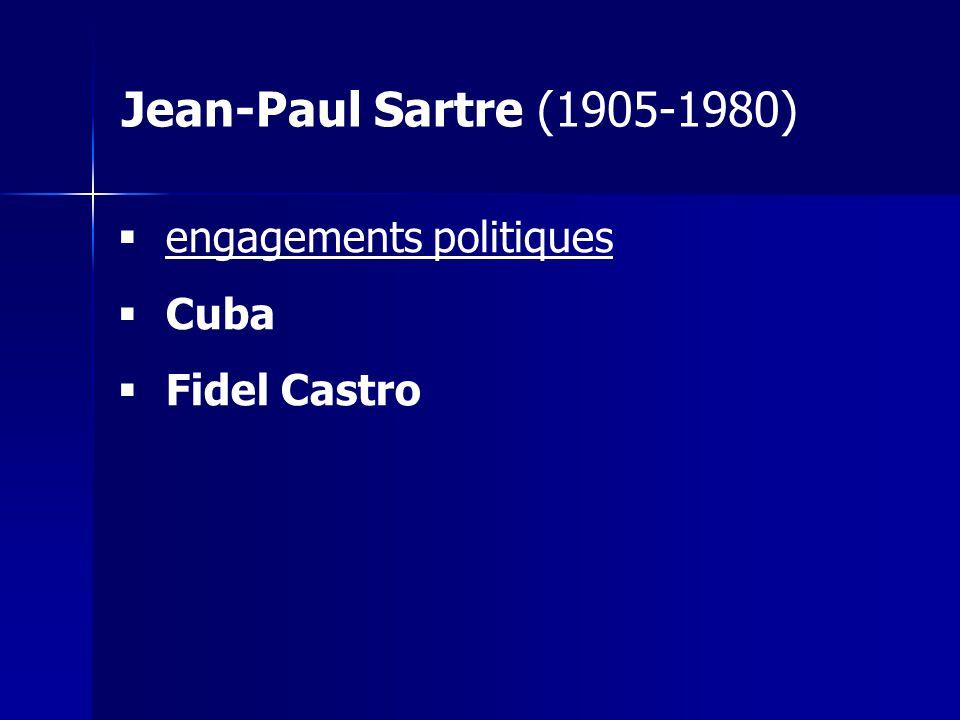 engagements politiques Cuba Fidel Castro Jean-Paul Sartre (1905-1980)