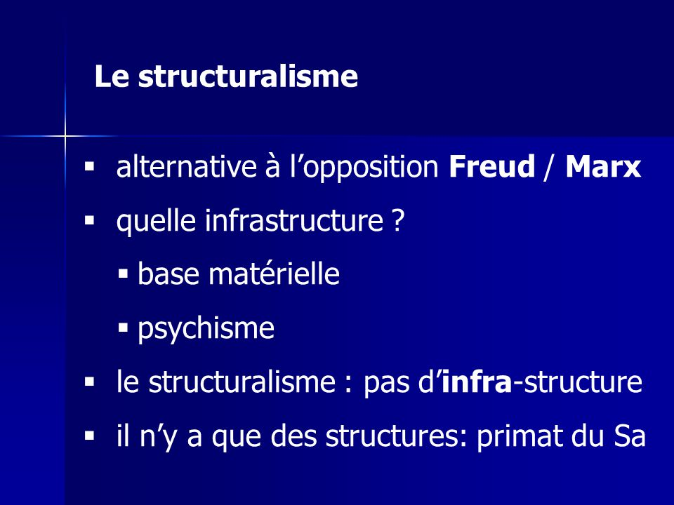 alternative à lopposition Freud / Marx quelle infrastructure .