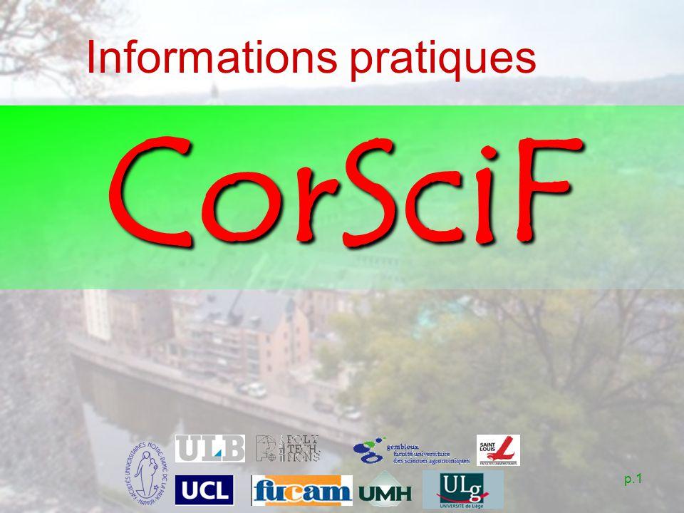 p.1 Informations pratiques CorSciF