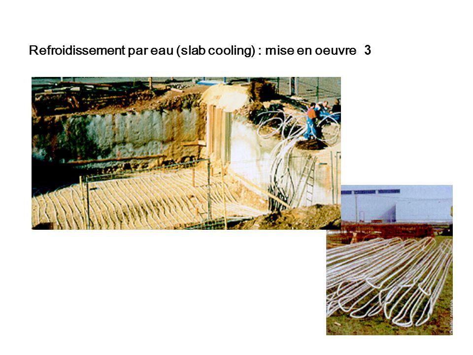 Refroidissement par eau (slab cooling) : mise en oeuvre 3
