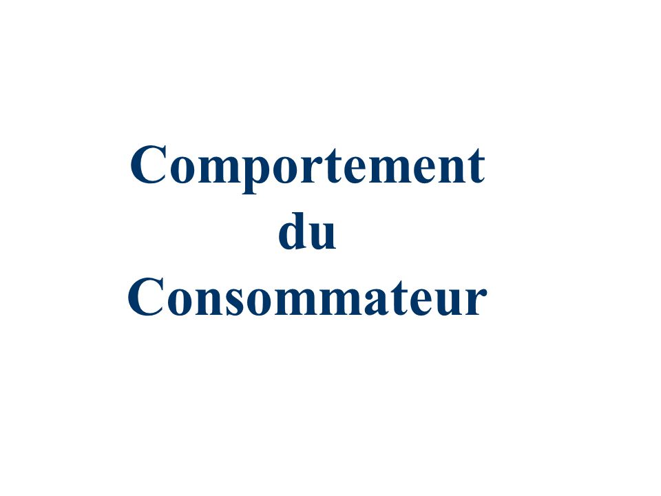 Cours 252 n Formellement: Utilité marginale et choix de consommation n En réarrangeant: n Par: