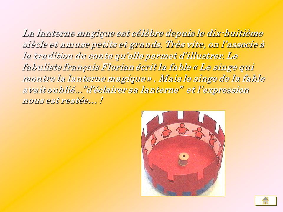 On attribue la première lanterne magique (en 1671) à Athanase Kircher, physicien et mathématicien allemand. On attribue la première lanterne magique (