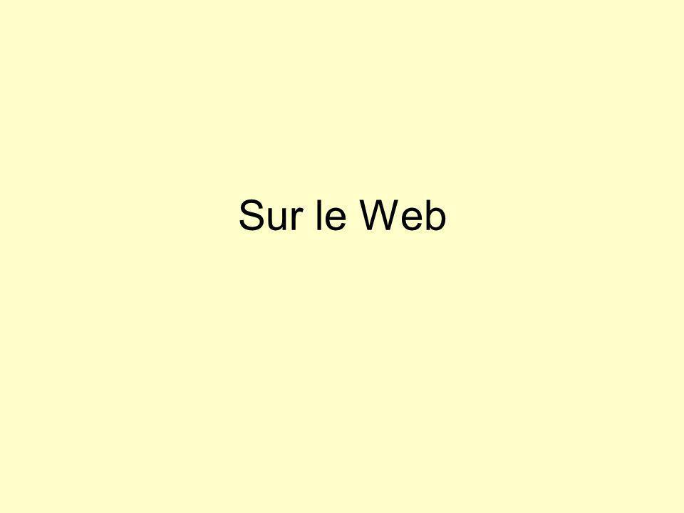 Sur le Web