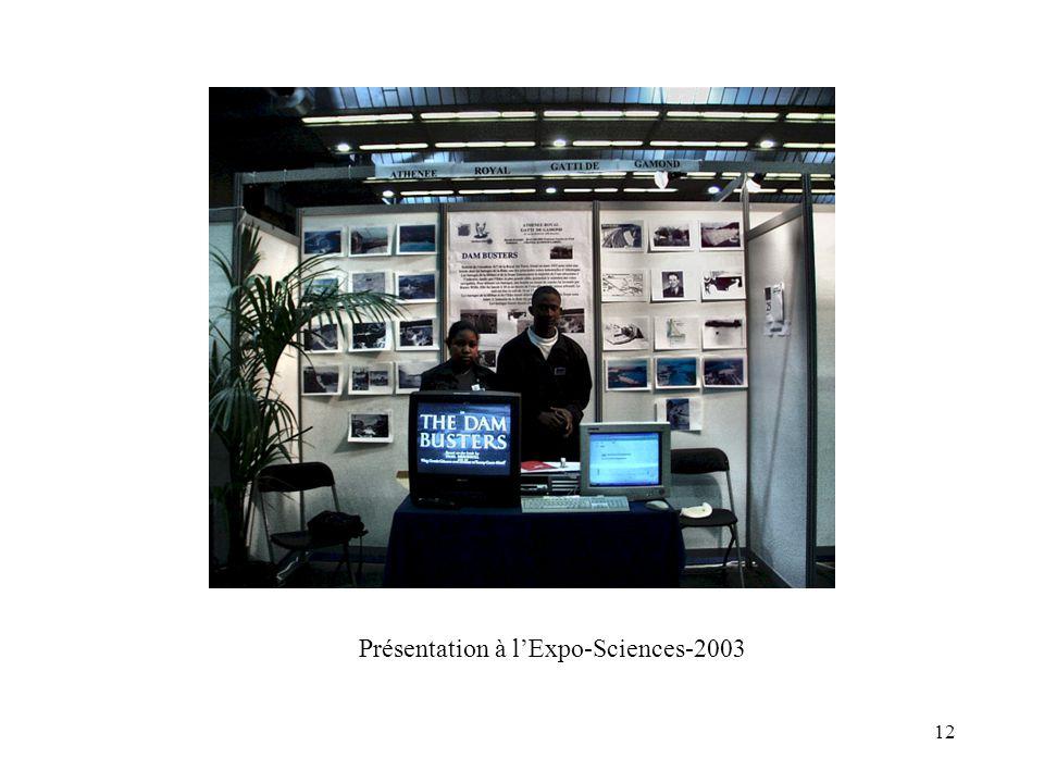 12 Présentation à lExpo-Sciences-2003
