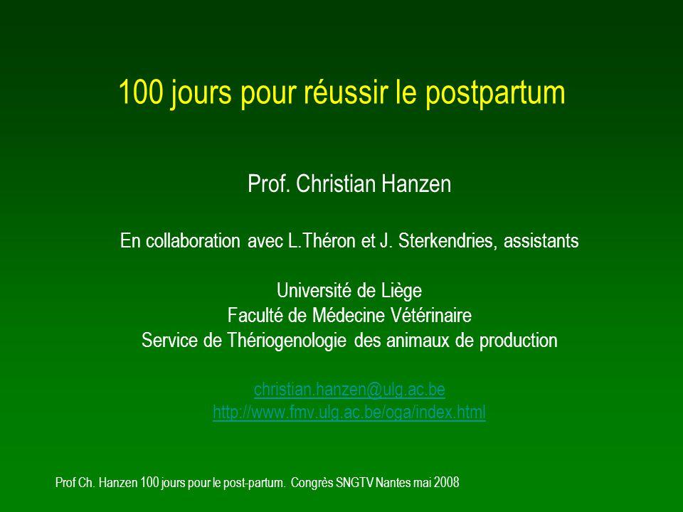 Prof Ch.Hanzen 100 jours pour le post-partum.