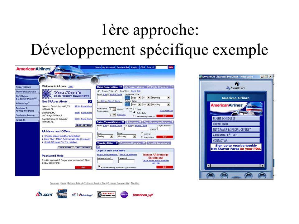 1ère approche: Développement spécifique exemple