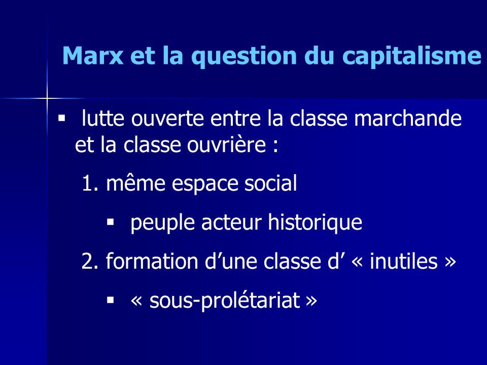 Marx et la question du capitalisme 1.centre : activités les + rentables 2.