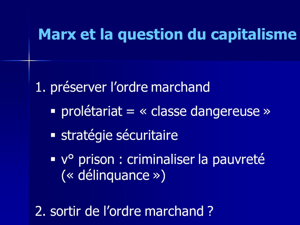 Marx et la question du capitalisme 1.