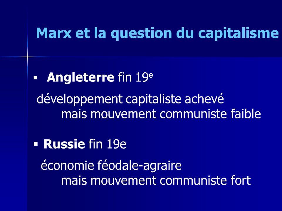 « synthèse » sujet/objet : dialectique « Lhumanité ne se propose jamais que des problèmes quelle peut résoudre (…) le problème ne surgit que là où les conditions matérielles pour le résoudre existent déjà » Marx et la question du capitalisme
