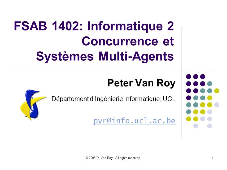 © 2005 P. Van Roy. All rights reserved. 52 Résumé