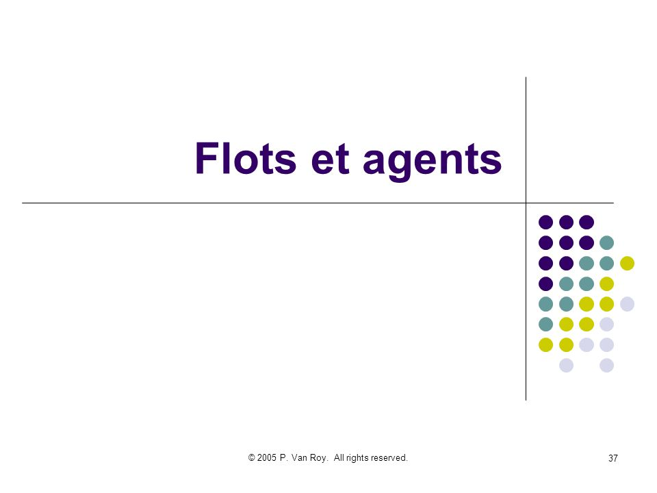 © 2005 P. Van Roy. All rights reserved. 37 Flots et agents