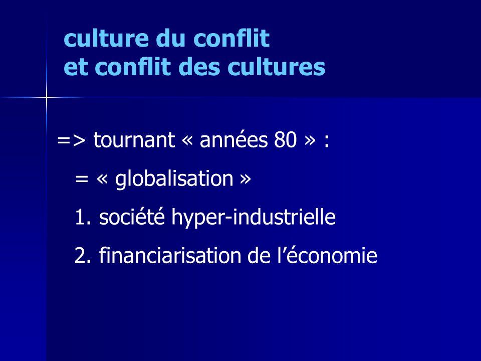 => tournant « années 80 » : = « globalisation » 1.