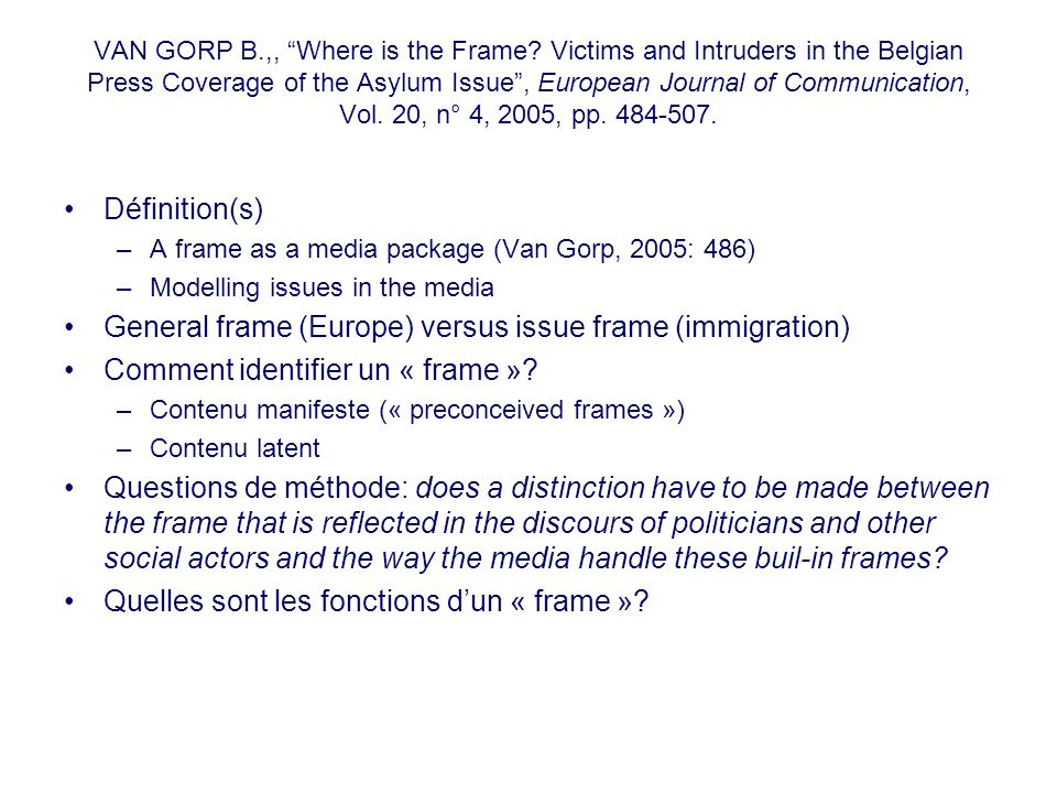 VAN GORP B.,, Where is the Frame.