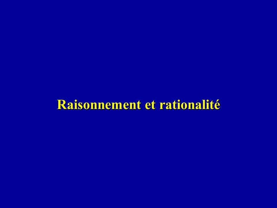 Raisonnement et rationalité