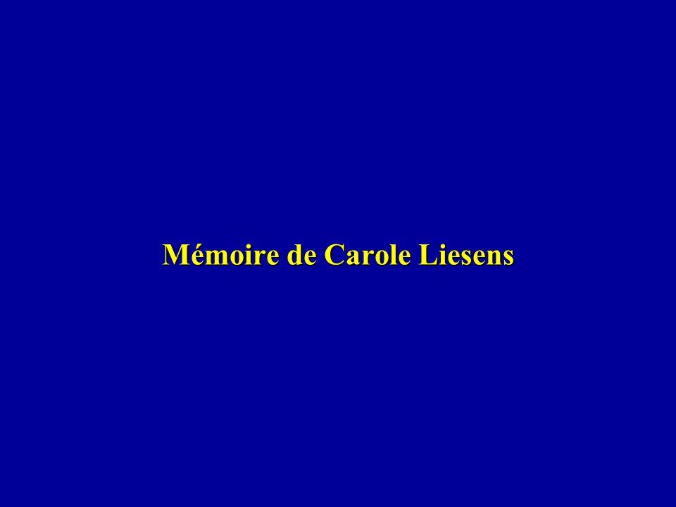Mémoire de Carole Liesens