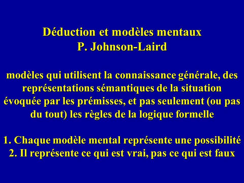 Déduction et modèles mentaux P.