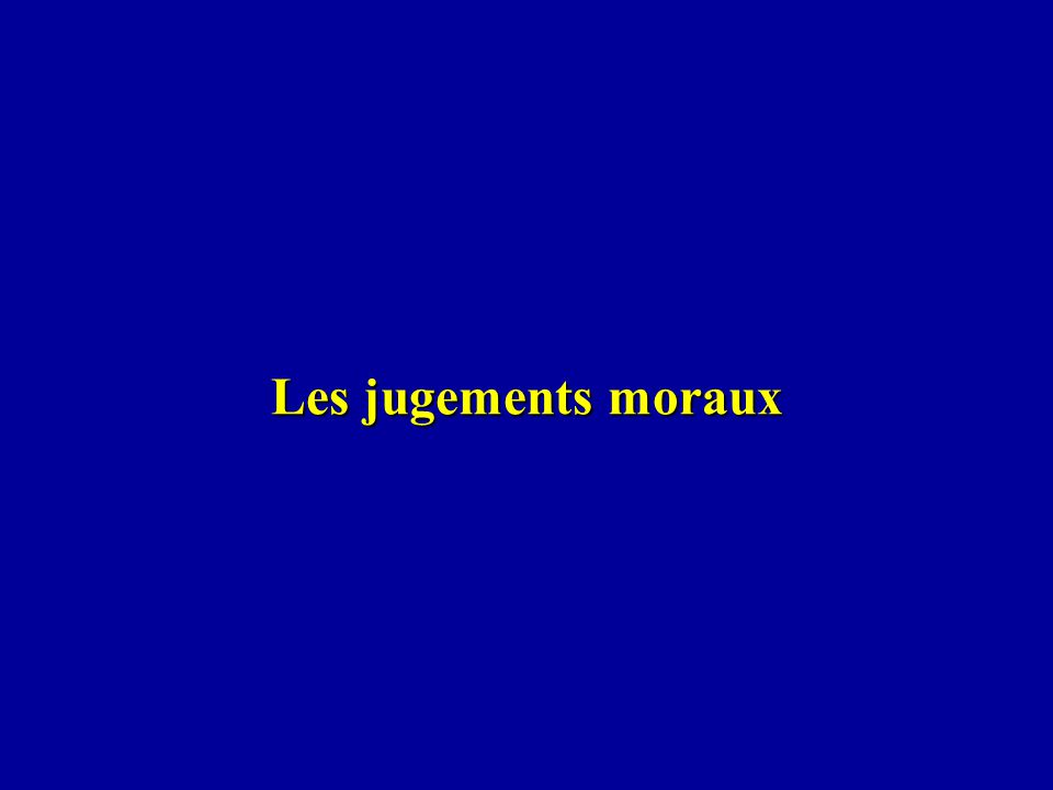 Les jugements moraux