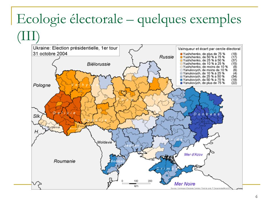 6 Ecologie électorale – quelques exemples (III)