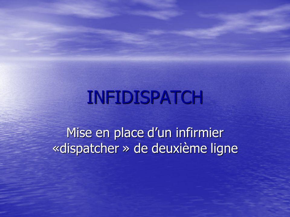 INFIDISPATCH Mise en place dun infirmier «dispatcher » de deuxième ligne