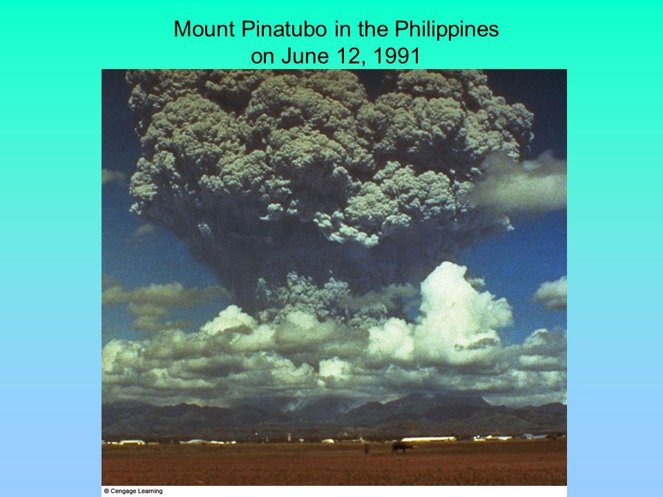 Mt. Pinatubo Aerosol Plume June 14 - July 26, 1991 SAGE II Satellite Project - NASA