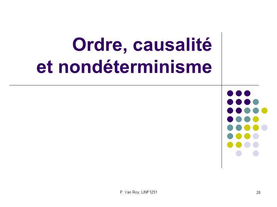 P. Van Roy, LINF1251 26 Ordre, causalité et nondéterminisme
