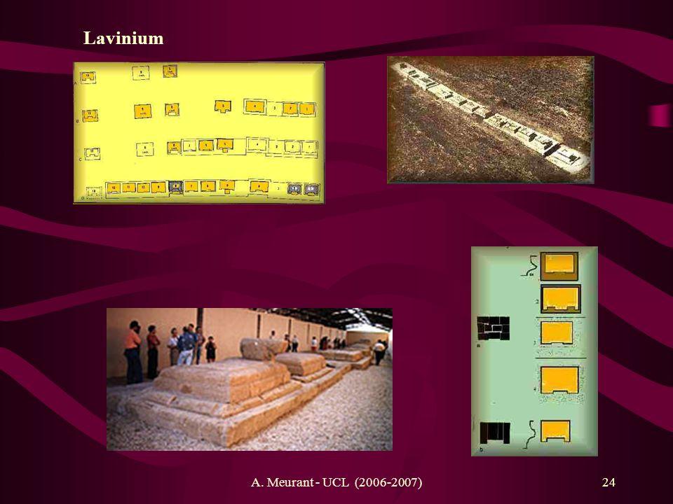 A. Meurant - UCL (2006-2007)24 Lavinium
