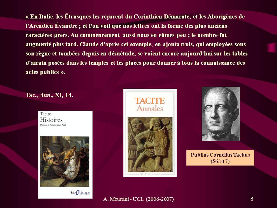 A. Meurant - UCL (2006-2007)26 Lavinium Castori Pollucique | 500 a.C.n.