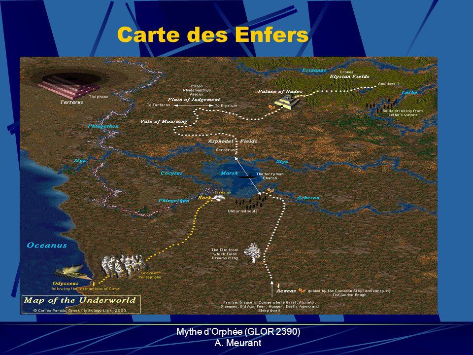 Mythe d'Orphée (GLOR 2390) A. Meurant Carte des Enfers