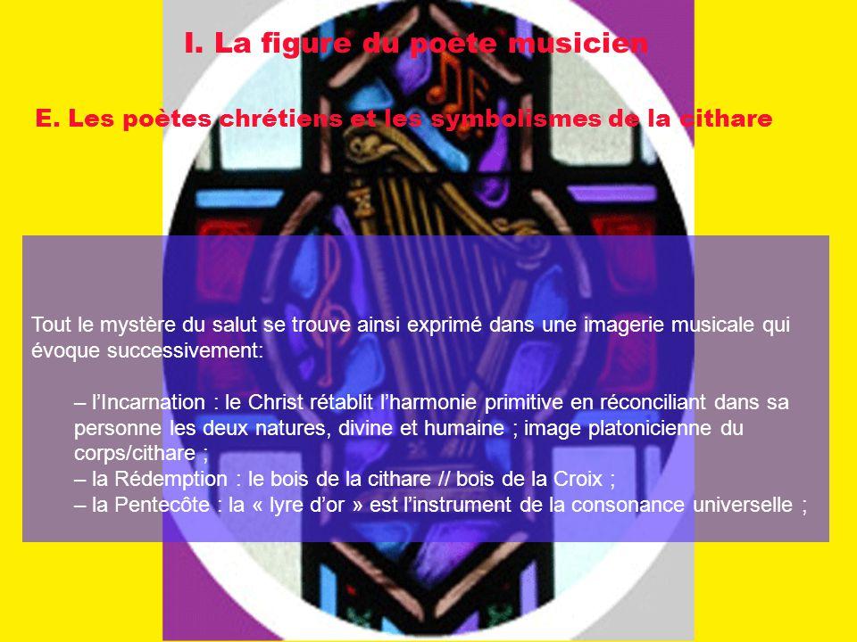 I. La figure du poète musicien E. Les poètes chrétiens et les symbolismes de la cithare Tout le mystère du salut se trouve ainsi exprimé dans une imag