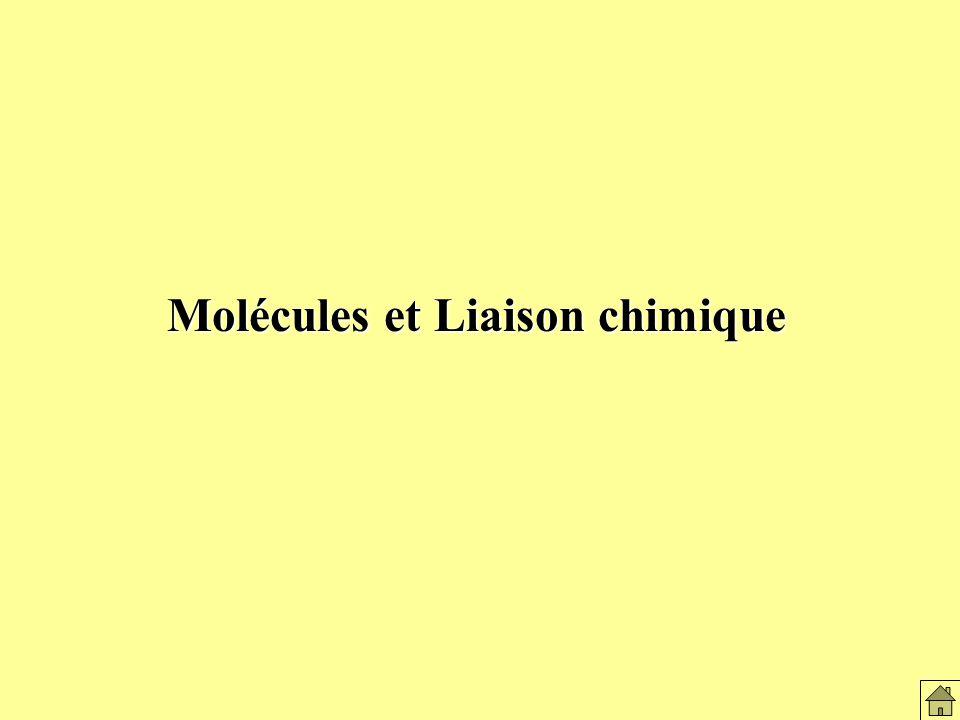 Molécules et Liaison chimique Molécules et liaison chimique