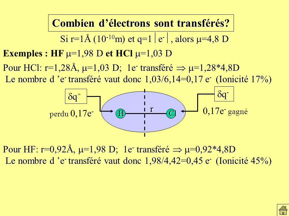 Combien délectrons sont transférés.