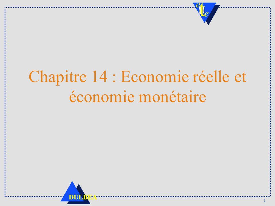 1 DULBEA Chapitre 14 : Economie réelle et économie monétaire