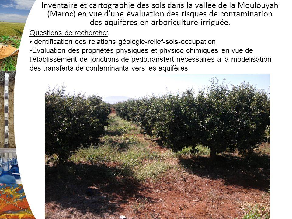 Inventaire et cartographie des sols dans la vallée de la Moulouyah (Maroc) en vue dune évaluation des risques de contamination des aquifères en arboriculture irriguée.