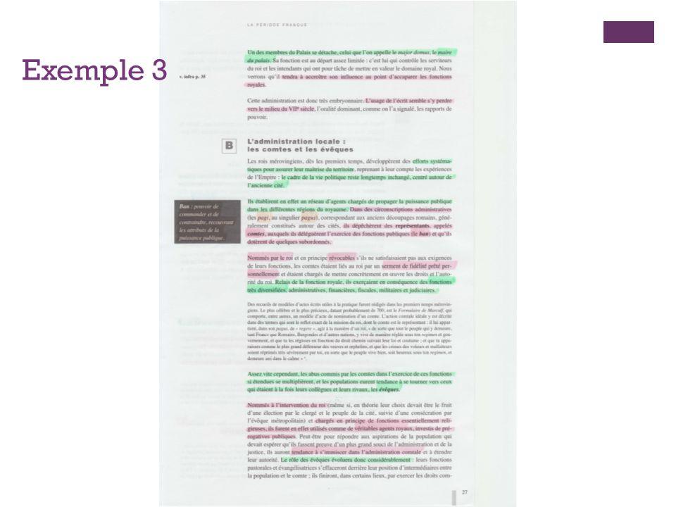 + Tracer une ligne du temps en indiquant les éléments exposés dans cette partie du cours qui doivent selon vous être étudiés.
