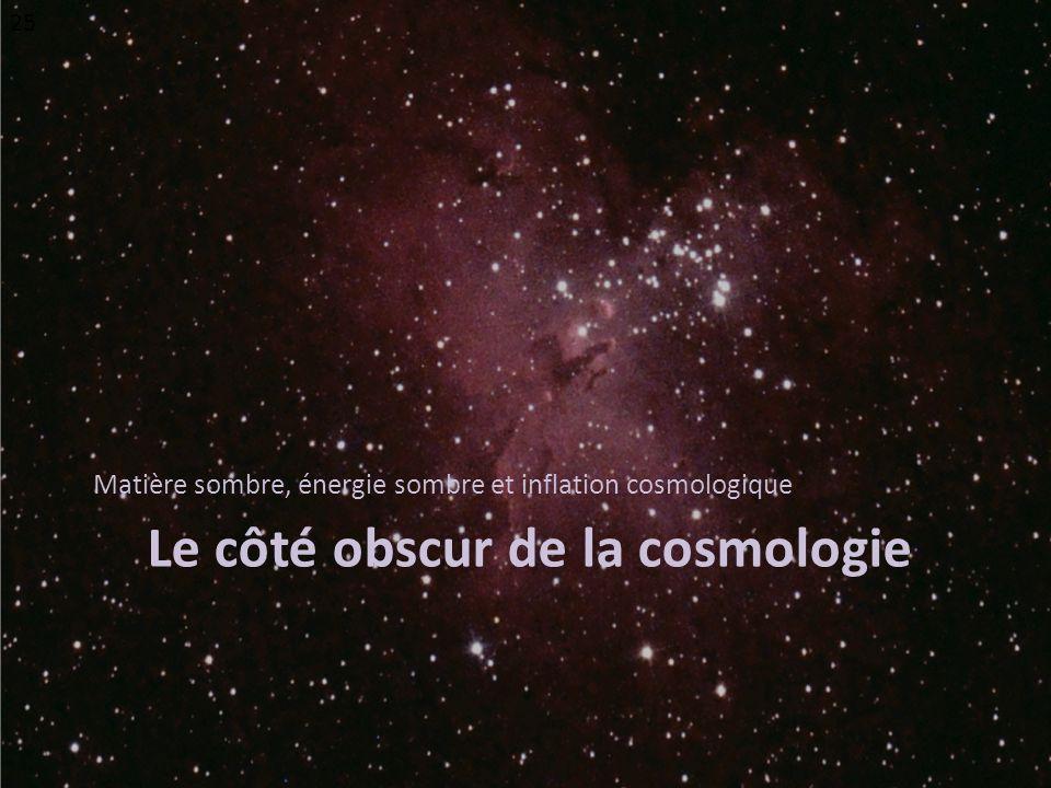 Le côté obscur de la cosmologie Matière sombre, énergie sombre et inflation cosmologique 25