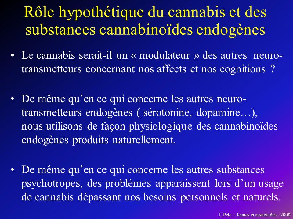 Le cannabis serait-il un « modulateur » des autres neuro- transmetteurs concernant nos affects et nos cognitions ? De même quen ce qui concerne les au