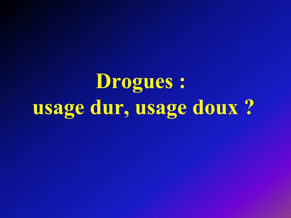 Drogues : usage dur, usage doux ?