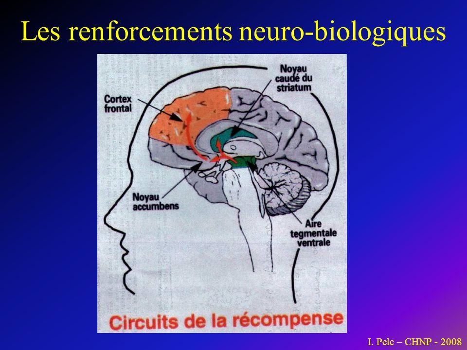 Les renforcements neuro-biologiques I. Pelc – CHNP - 2008