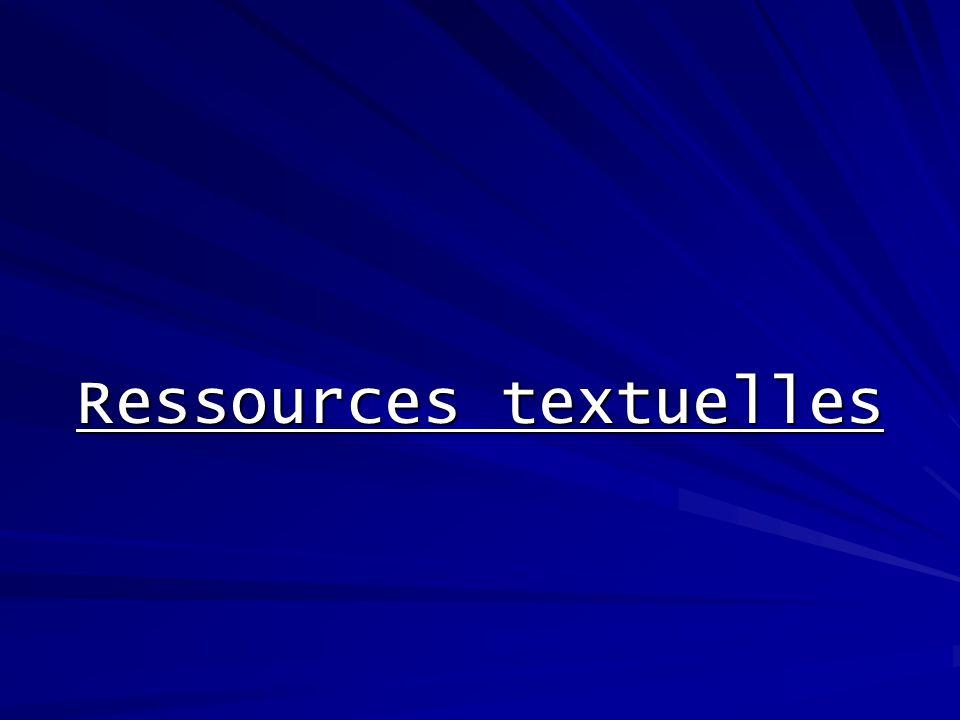 Ressources textuelles