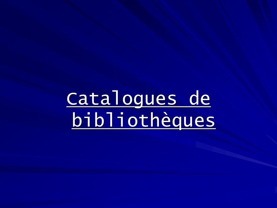 Depuis les années 1980, les bibliothèques, quelles soient scientifiques ou publiques, tentent de développer un catalogue informatique de leurs collections.