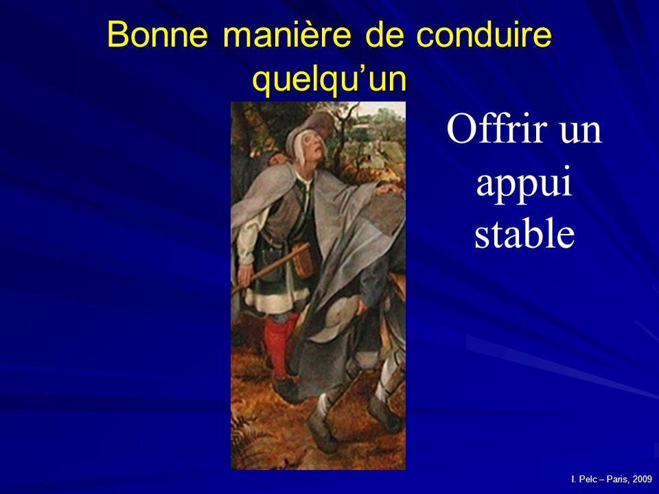 Bonne manière de conduire quelquun Offrir un appui stable La parabole des aveugles Pierre Breughel lancien I.